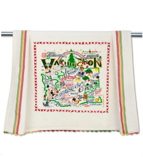$20.00 Washington Catstudio Dish Towel