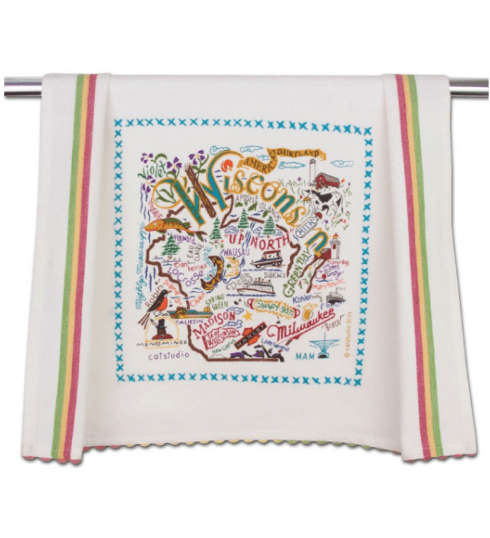 $20.00 Wisconsin Catstudio Dish Towel