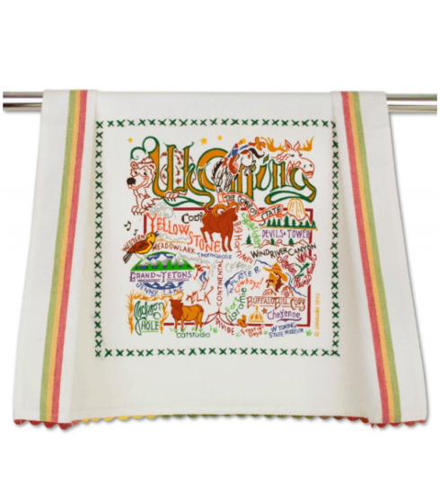 $20.00 Wyoming Catstudio Dish Towel