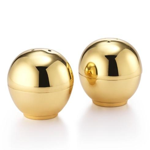 "Mary Jurek  Helios Brass Ball Salt & Pepper Set 2"" D $60.00"