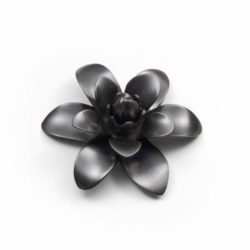 """$35.00 Flower Black Nickel Plate 5"""" D"""