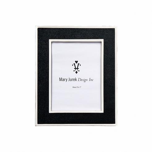 """$110.00 Photo Frame w/ Black Leather  5"""" x 7"""""""