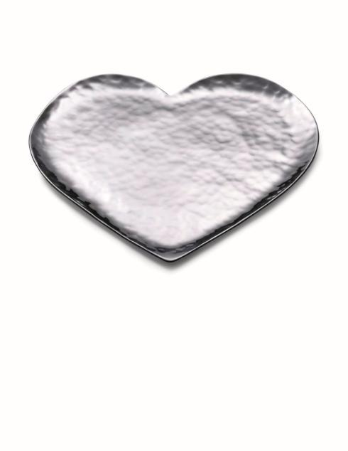 $110.00 Amore Heart Shaped Serving Tray 9""