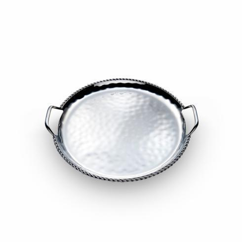 Round Tray w/Braided Wire and Handles 16½