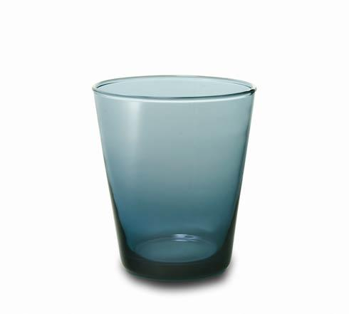 Glass Tumbler Grey Blue-2/pc Set