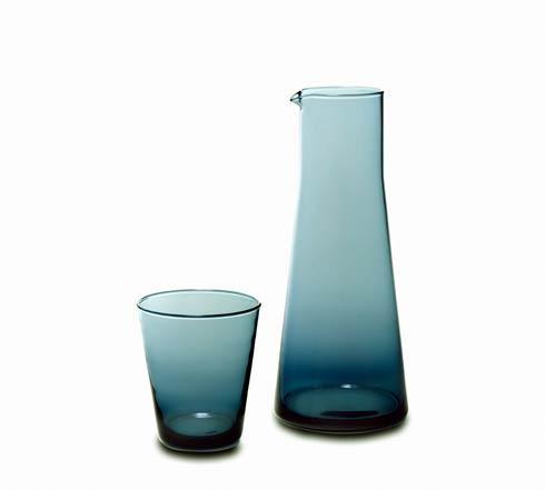 $65.00 Glass Carafe/Tumbler 2/pc Set  GreyBlue