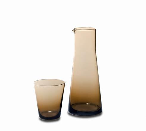 Glass Carafe/Tumbler 2/pc Set Chocolate
