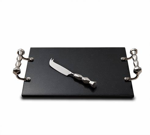 $140.00 Black Marble Cheese Tray w/Knife
