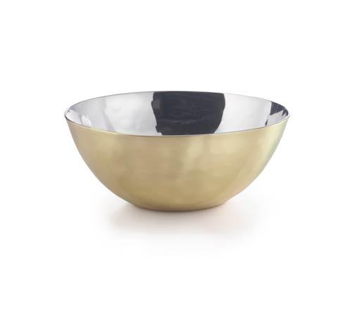 Mojave Round Bowl w/Brass Plate