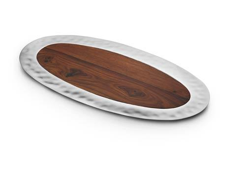 $175.00 Oval Tray w/ Rosewood Insert