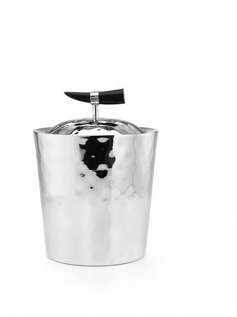 Mary Jurek  Orion Double Walled Ice Bucket w/Buffalo Horn $285.00
