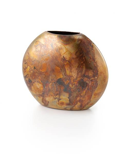 $45.00 Sedona Burnished Copper Round Vase