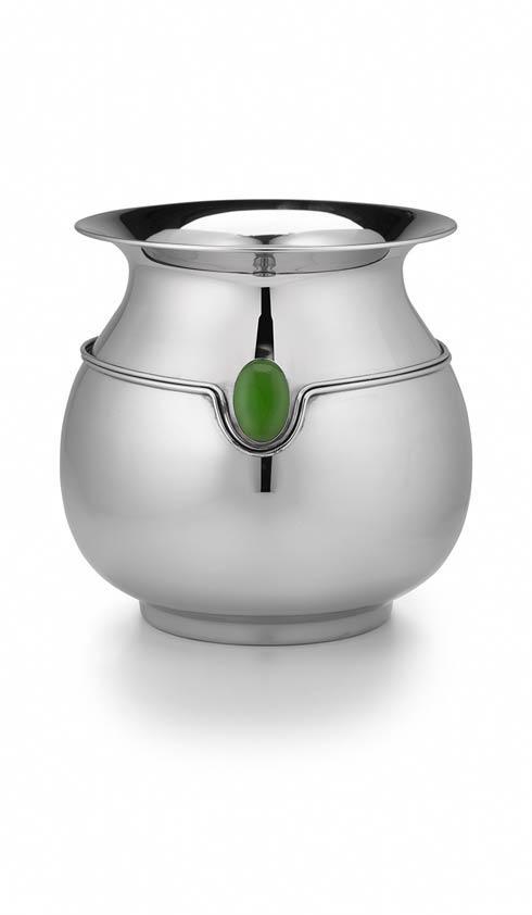 $180.00 Round Vase w/ Dbl Wire/ Green Onyx Stone