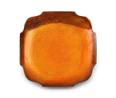 Burnt Orange Sq Dish (4/s)