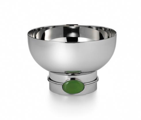 Round Bowl w/ Green Onyx Stone