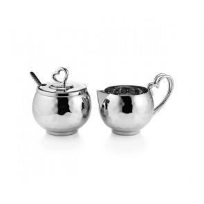 Creamer & Sugar Set w/Heart