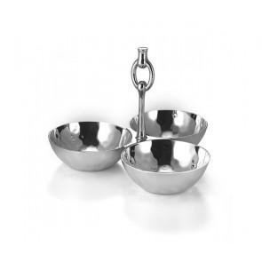 $120.00 3-Bowl Snack Set w/Ring