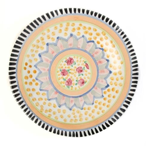 $88.00 Flat Dinner Plate - Cabbage Rose