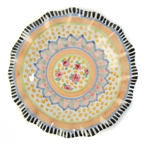 $88.00 Fluted Dinner Plate - Cabbage Rose