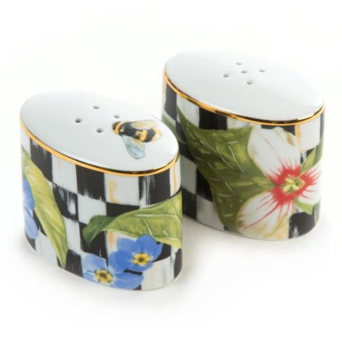 MacKenzie-Childs  Porcelain Thistle & Bee Salt & Pepper Set $70.00