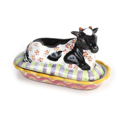 MacKenzie-Childs  Specialty Ceramics Molly Butter Dish $150.00