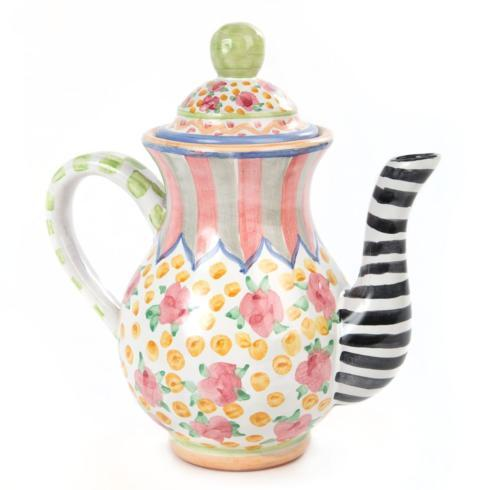 MacKenzie-Childs  Taylor Ceramics Taylor Coffee Pot - Cabbage Rose $225.00