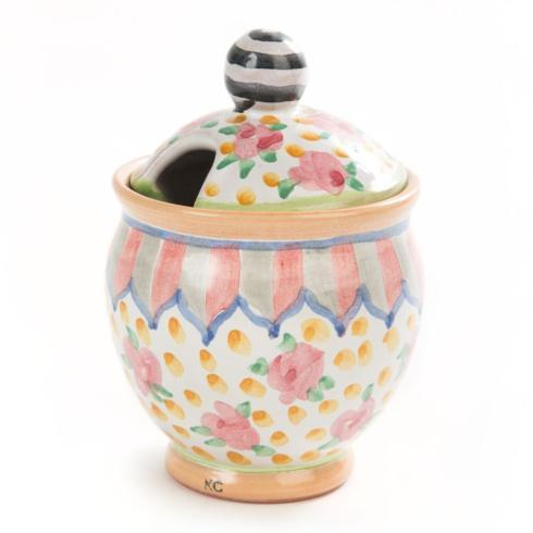 MacKenzie-Childs  Taylor Ceramics Taylor Sugar Bowl - Cabbage Rose $135.00