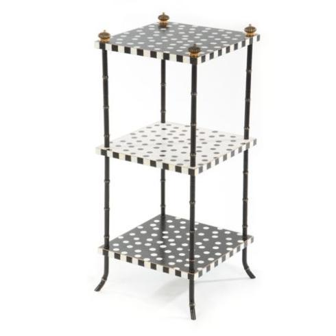 $295.00 Dot Three Tier Table