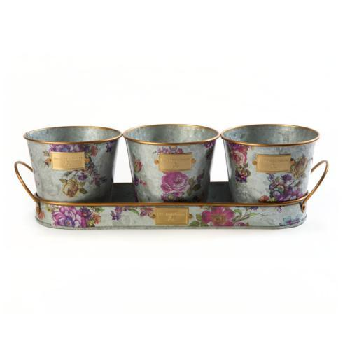 $48.00 Herb Pots With Tray - Set of 3