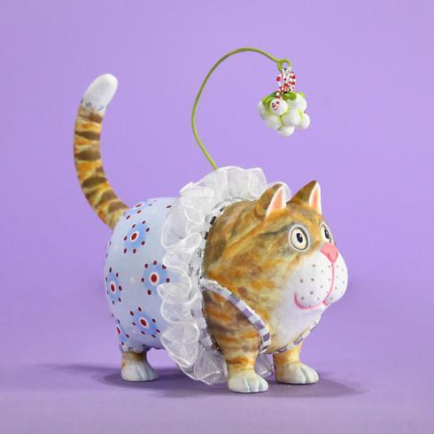 $50.00 Missy Mistletabby Cat Ornament