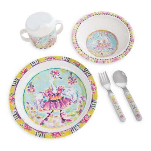 $48.00 Toddler\'s Dinnerware Set - Bella Ballerina