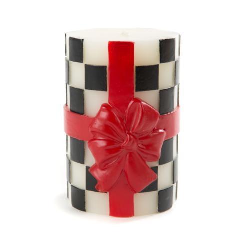 $44.00 Ribboned Pillar Candle