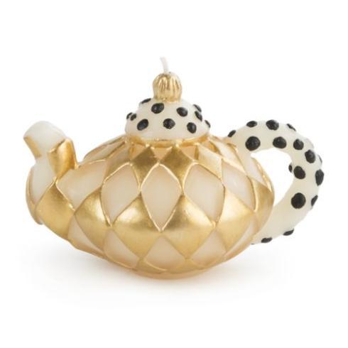 Diamond Teapot Candle - Gold