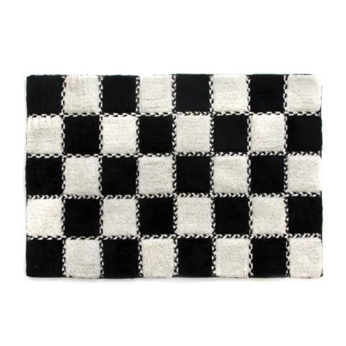 $80.00 Bath Rug - Black & White