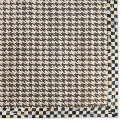 MacKenzie-Childs  Floor Coverings Courtly Houndstooth Jute/Sisal Rug - 2 ft x 3 ft $125.00