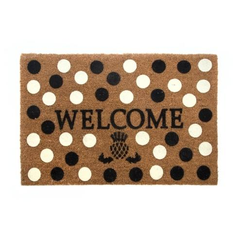 $75.00 Welcome Entrance Mat - Black & White Dot
