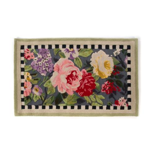 MacKenzie-Childs  Floor Coverings Tudor Rose Rug 2.25' x 3.75' $195.00