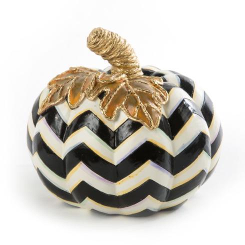 $58.00 Black & White Chevron Pumpkin - Small