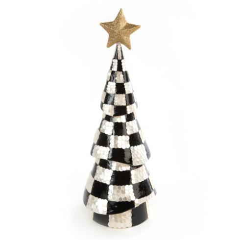 $125.00 Black & White Check Capiz Tree - Medium
