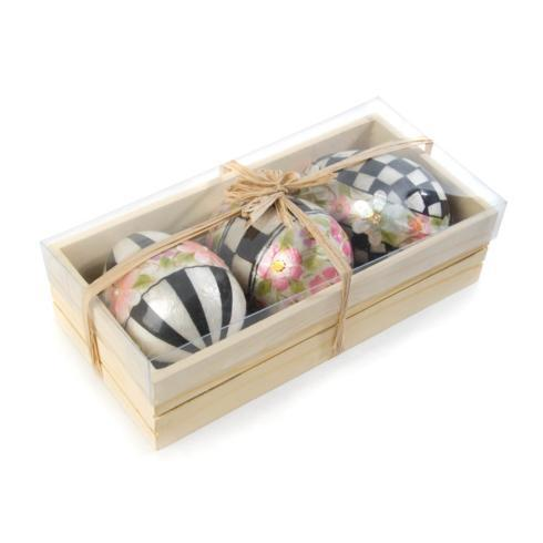 $78.00 Painted Posie Eggs - Set of 3