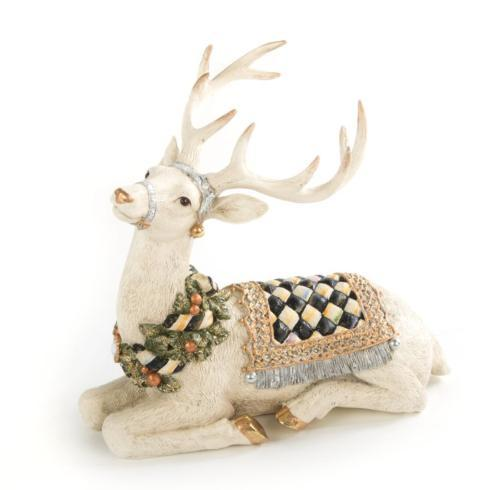 $78.00 Winter White Stag - Resting