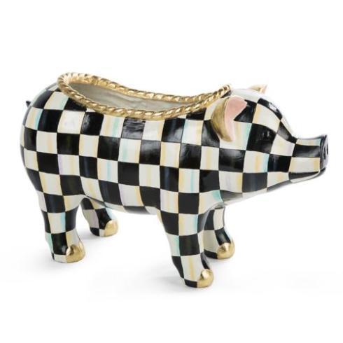 MacKenzie-Childs  Garden Courtly Check Pig $295.00