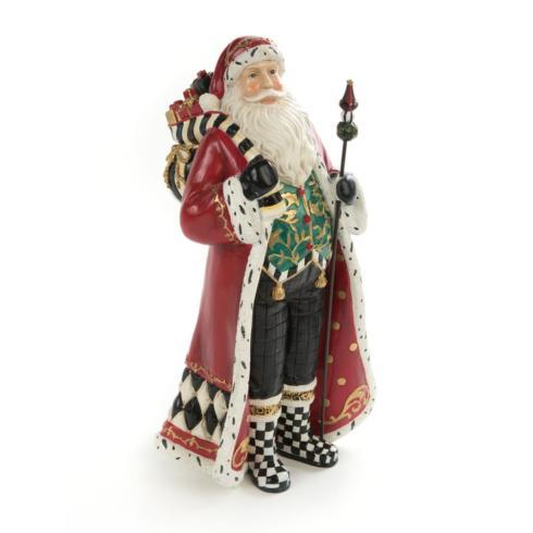 MacKenzie-Childs  Holiday Decor Holly Father Christmas $125.00