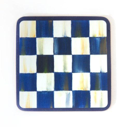 MacKenzie-Childs Royal Check Accessories Cork Back Coasters - Set of 4 $28.00