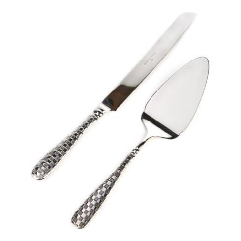 MacKenzie-Childs  Flatware Check Cake Serving Set $88.00
