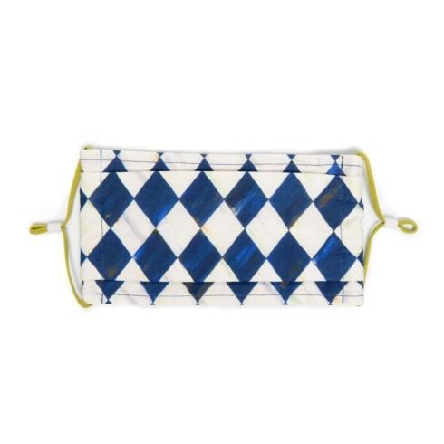 $20.00 Royal Harlequin Face Mask - Pleated