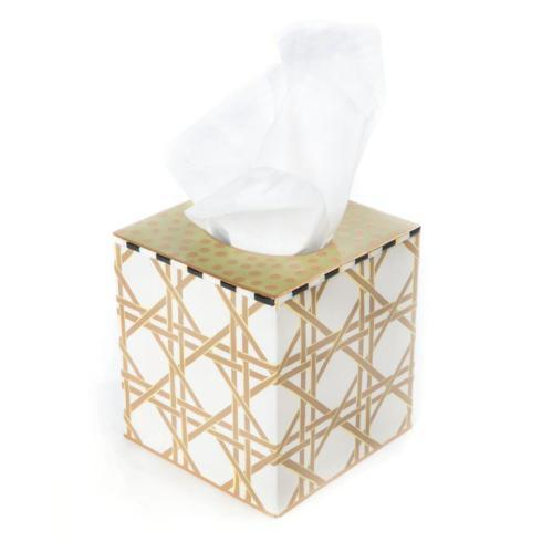 MacKenzie-Childs  Lattice Tissue Box Cover $48.00