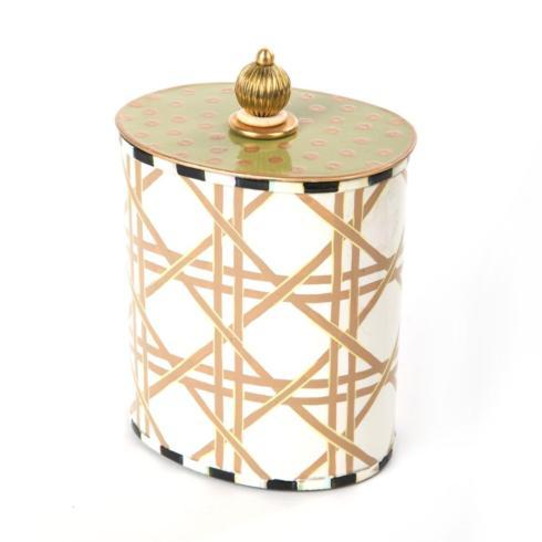 MacKenzie-Childs  Lattice Cotton Box $50.00