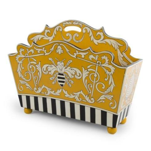 MacKenzie-Childs  Accessories Spelling Bee Magazine Holder $125.00
