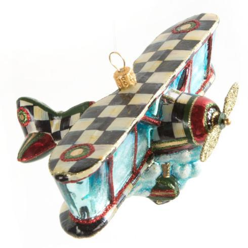 $98.00 Glass Ornament - Airplane